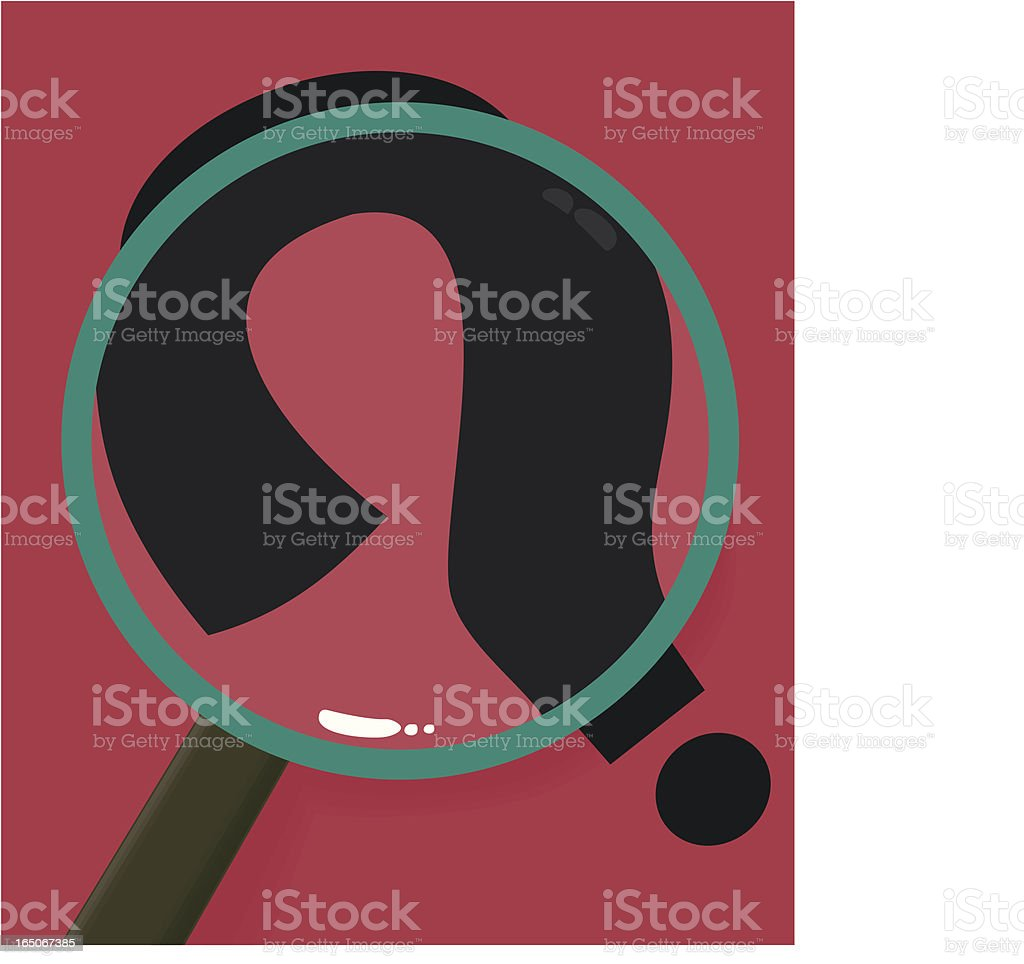 Examining the Question royalty-free stock vector art