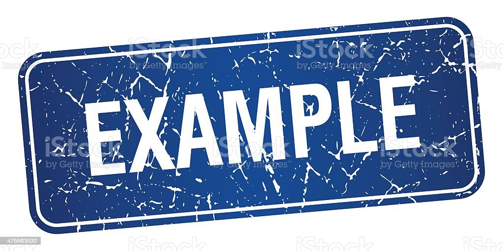 example blue square grunge textured isolated stamp vector art illustration