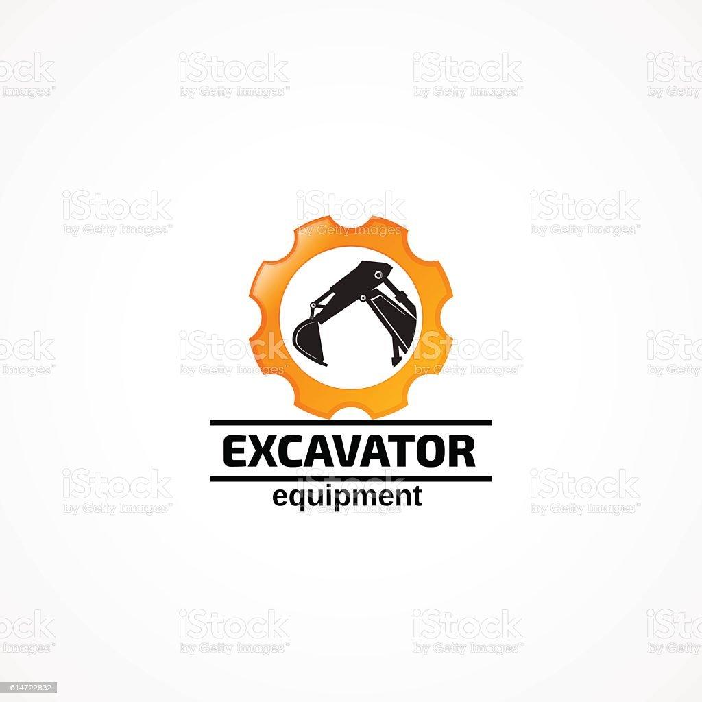 Excavator equipment. vector art illustration