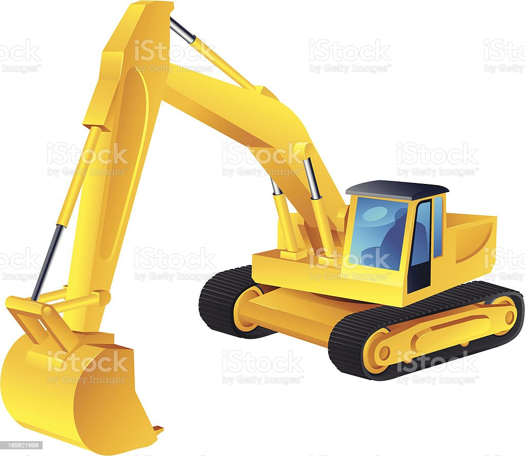 Excavator royalty-free stock vector art