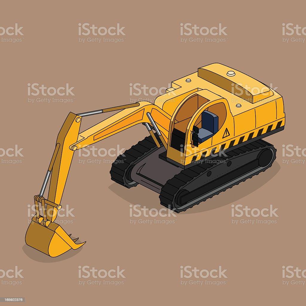 excavator royalty-free stock vector art