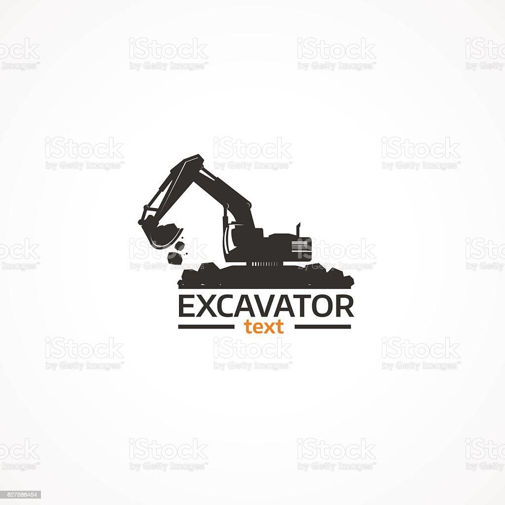 Excavator. vector art illustration