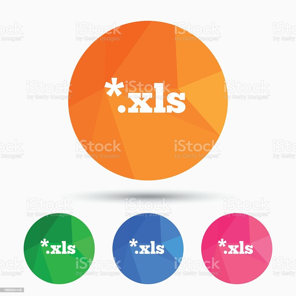 Excel file document icon. Download xls button. vector art illustration