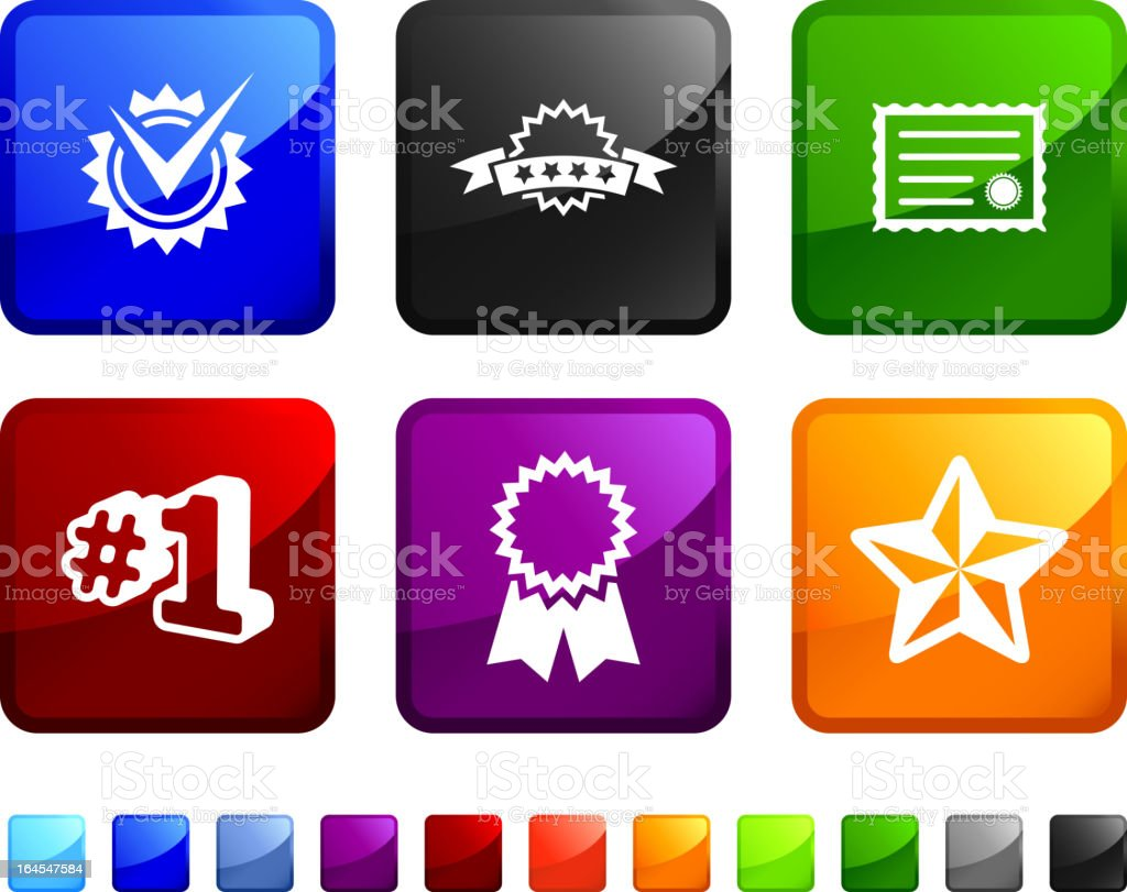 excellence and quality badges royalty free vector icon set royalty-free stock vector art