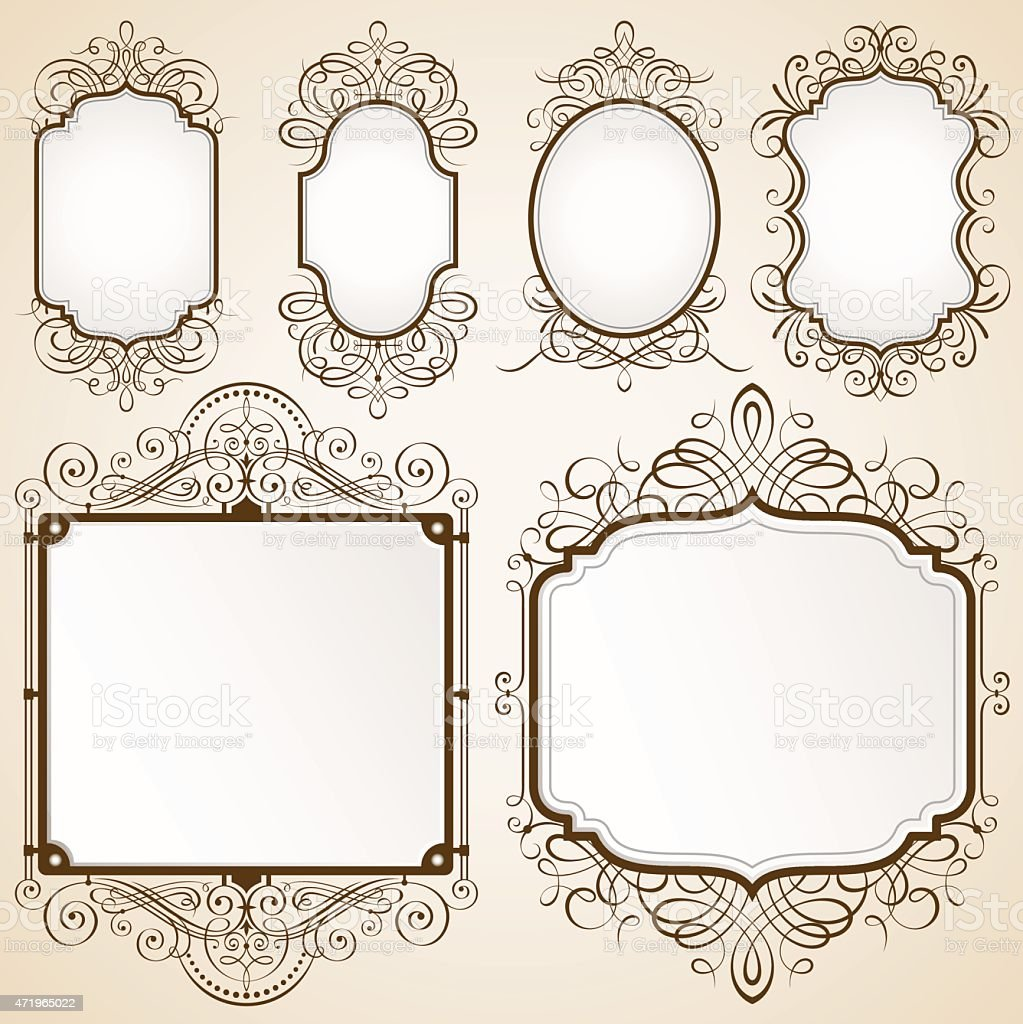 Excellent Decorative Frames vector art illustration