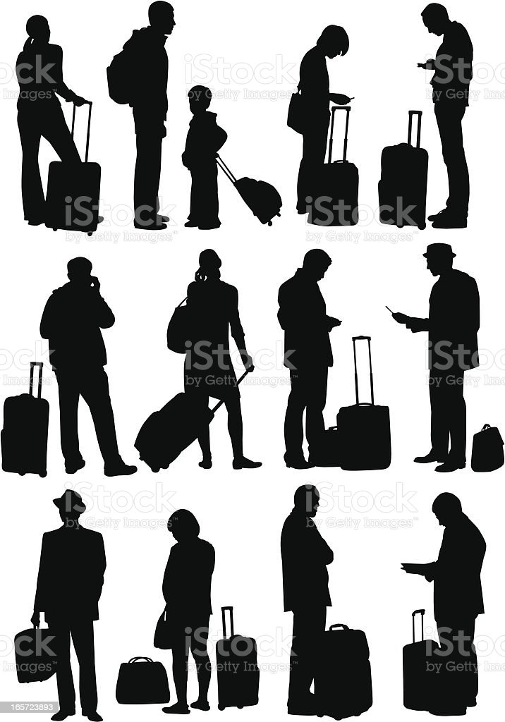 Excess Baggage vector art illustration