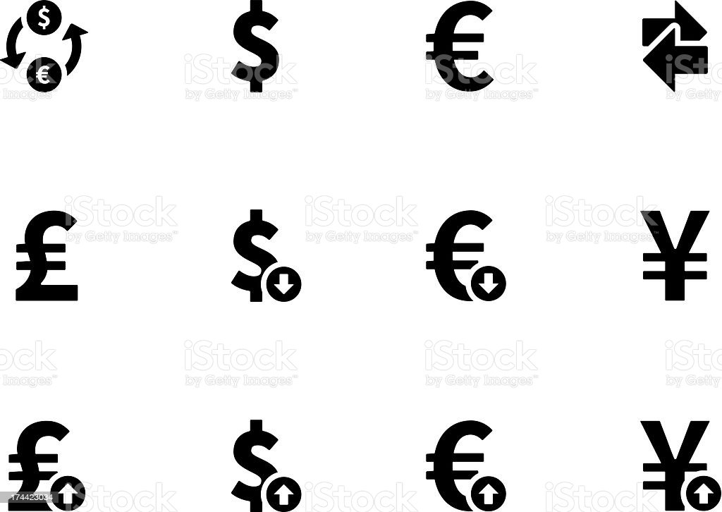 Exchange Rate icons royalty-free stock vector art