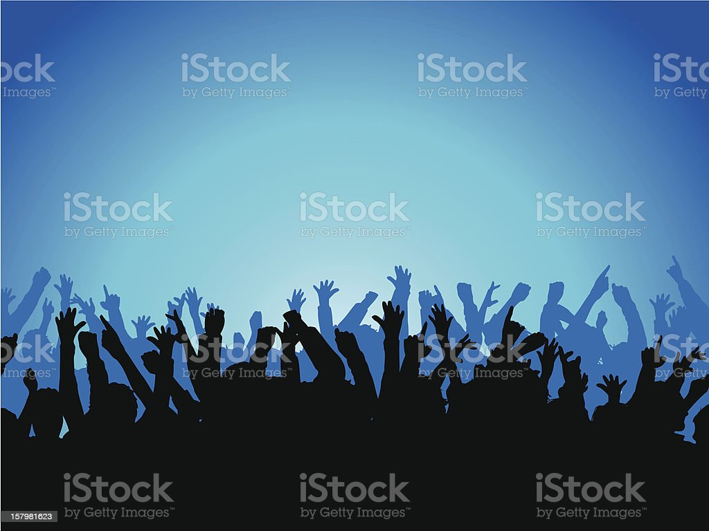 Excited crowd royalty-free stock vector art