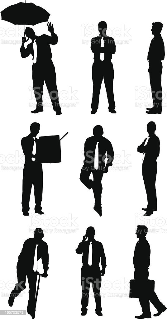 Exciting young businessman royalty-free stock vector art