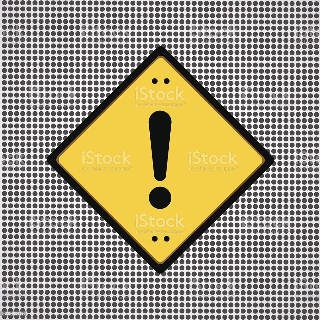 Exclamation danger sign vector art illustration