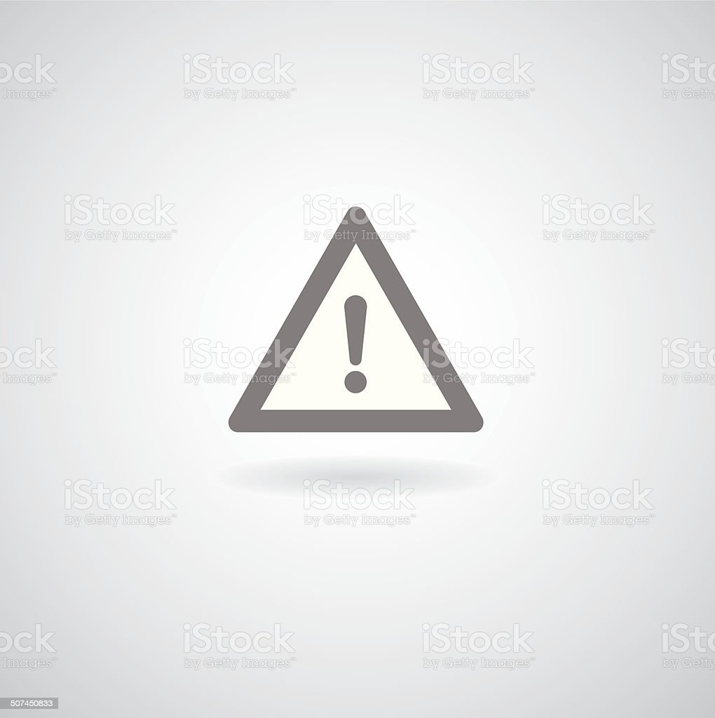 Exclamation danger sign vector art illustration