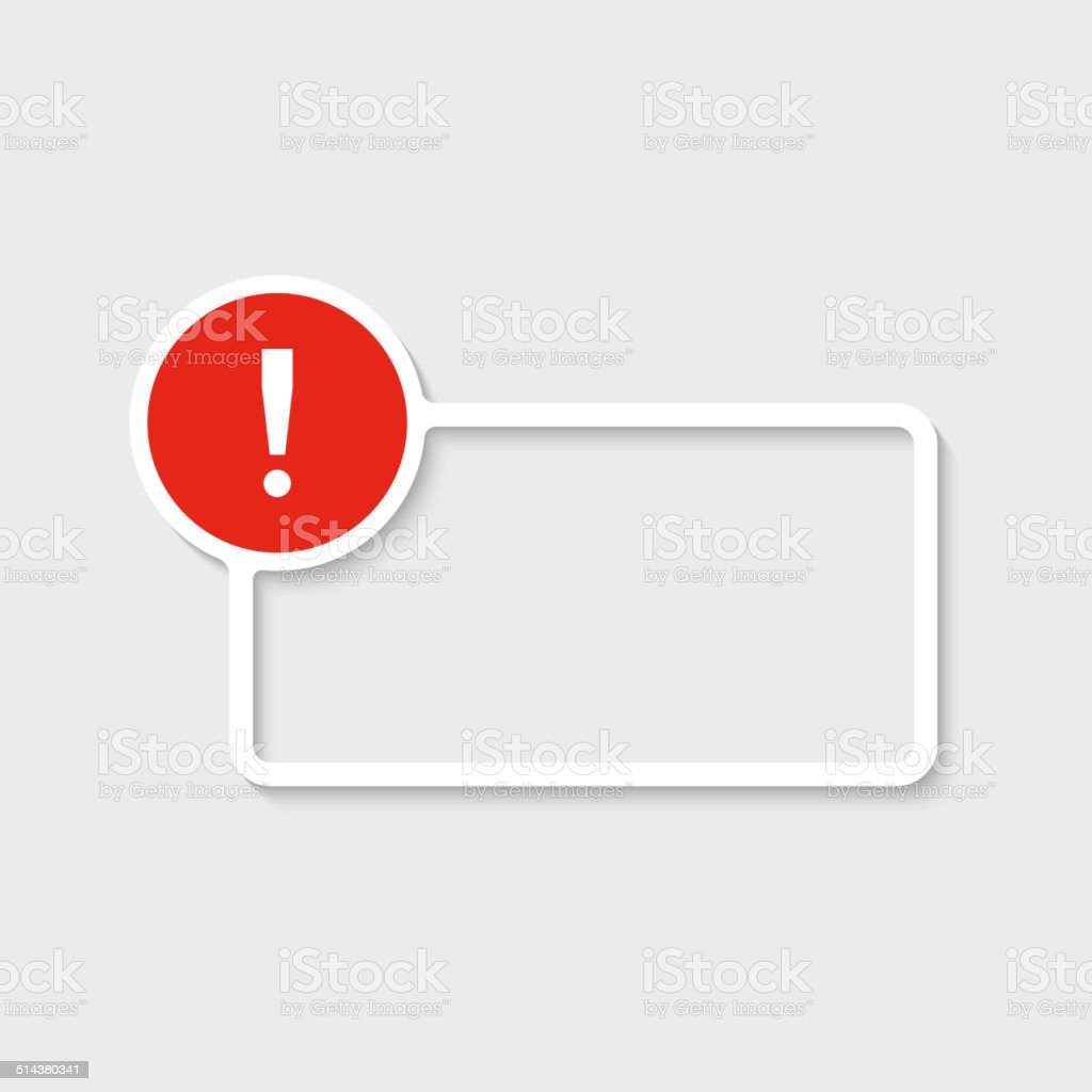 Exclamation mark icon. vector art illustration