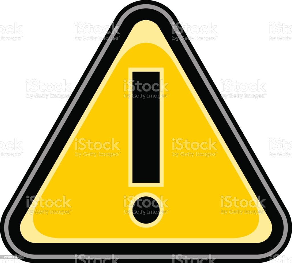 Exclamation Point Warning Attention Triangle Sign vector art illustration