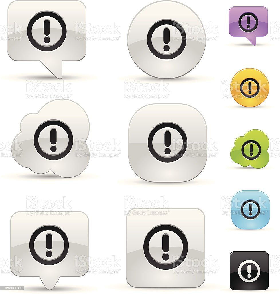 Exclamatory sign icons royalty-free stock vector art
