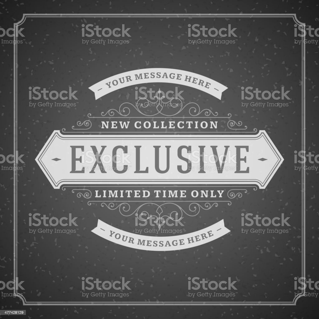 Exclusive advertising vintage graphics royalty-free stock vector art