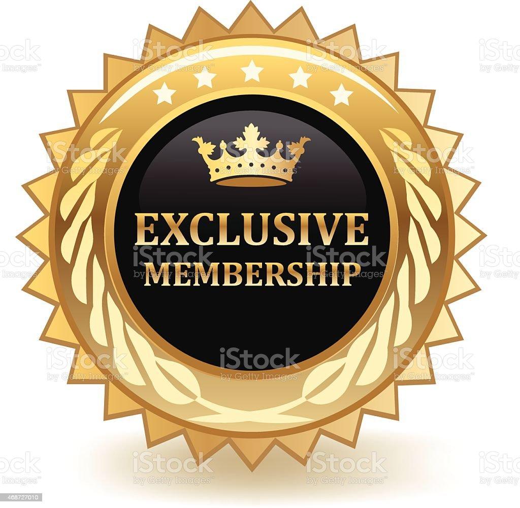 Exclusive Membership vector art illustration