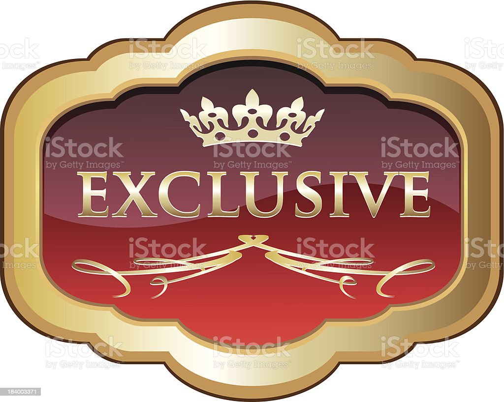 Exclusive Red Label Award vector art illustration
