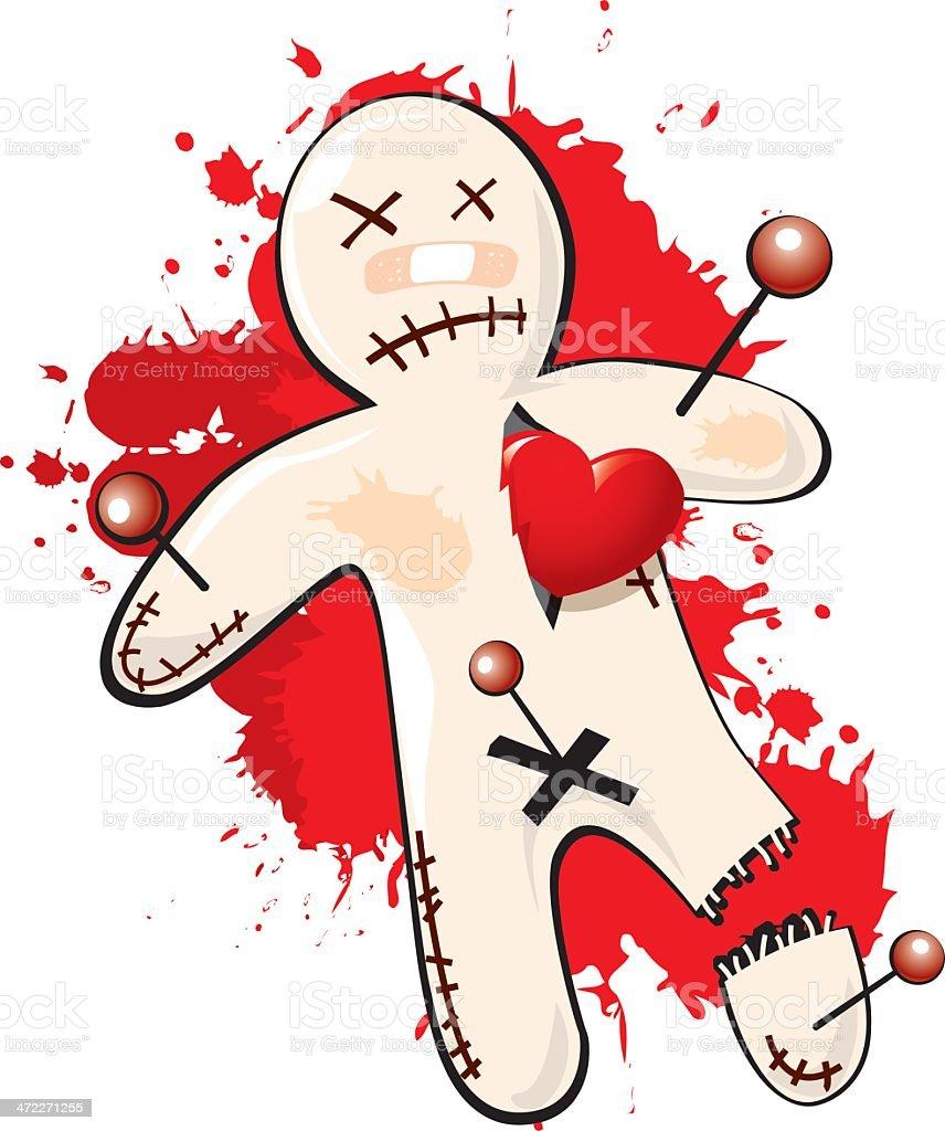 execution voodoo style vector art illustration