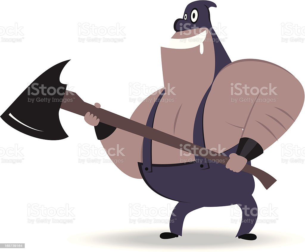 Executioner with Axe vector art illustration