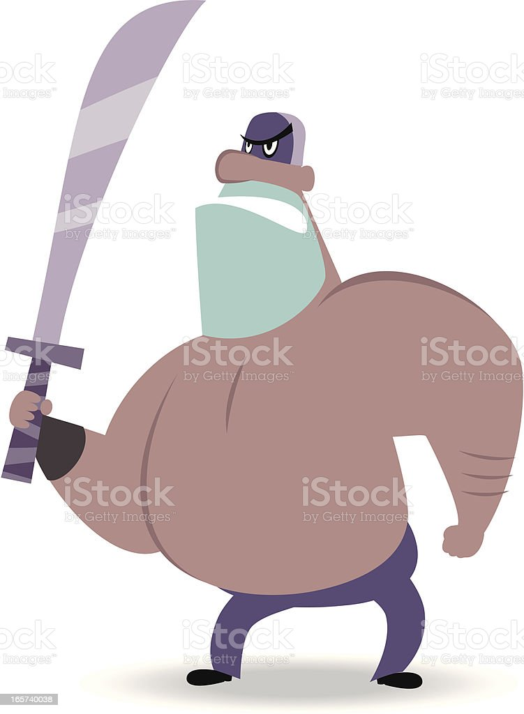 Executioner with Sword vector art illustration