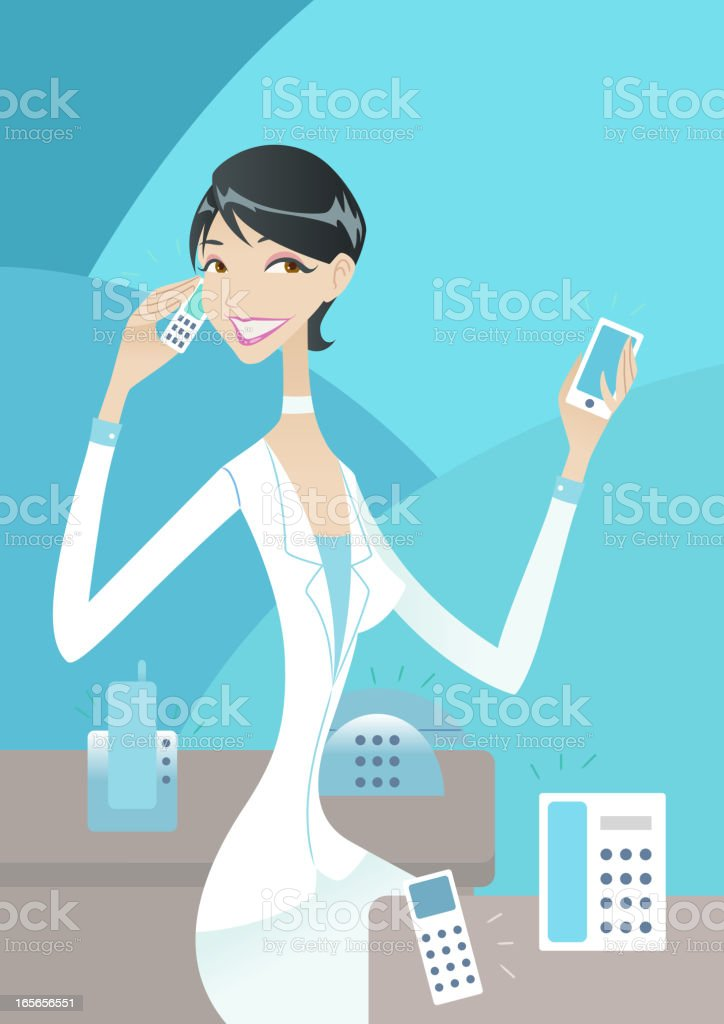 Executive woman royalty-free stock vector art