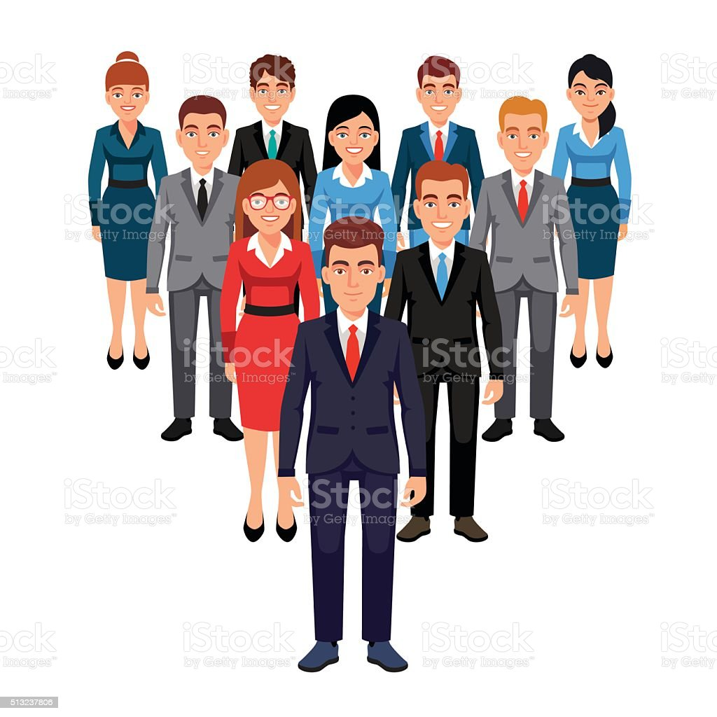 Executives team. Leadership concept vector art illustration