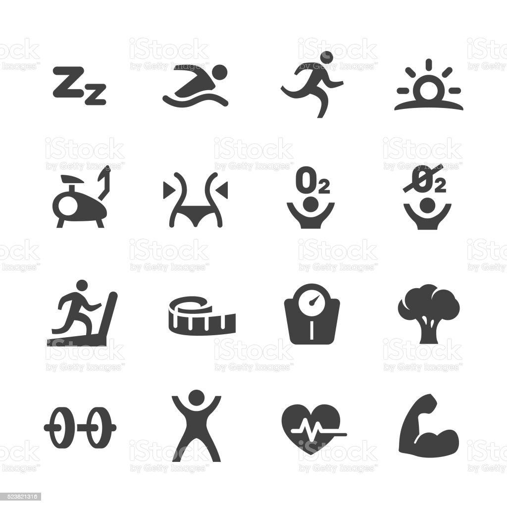 Exercise and Sport Icons - Acme Series vector art illustration