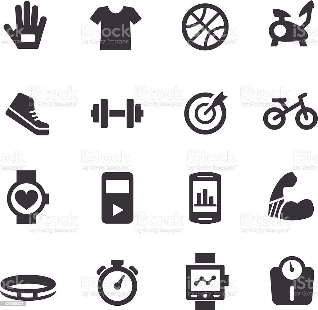Exercise Equipment Icons - Acme Series vector art illustration