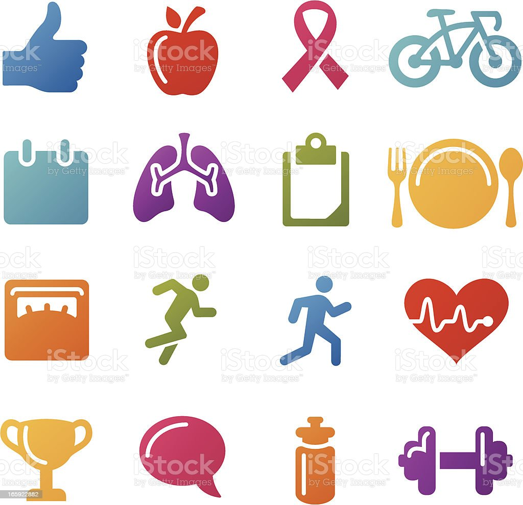 Exercise Icons royalty-free stock vector art