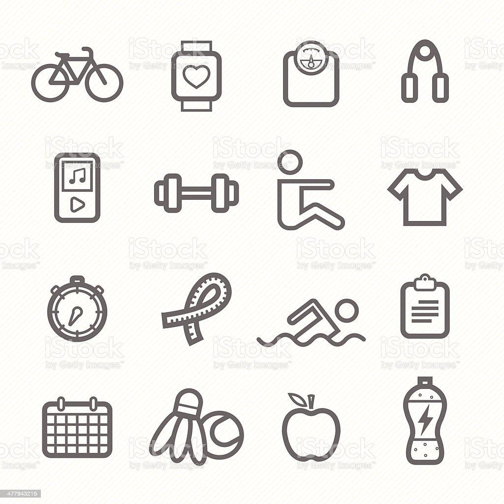 exercise symbol line icon set royalty-free stock vector art
