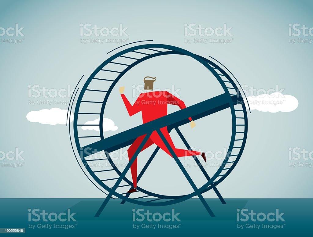 Exercise Wheel vector art illustration