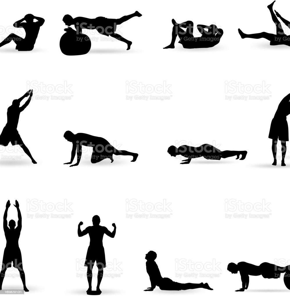 Exercising vector art illustration