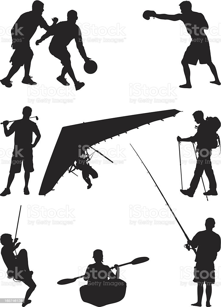 Exhilarating sports and activities vector art illustration