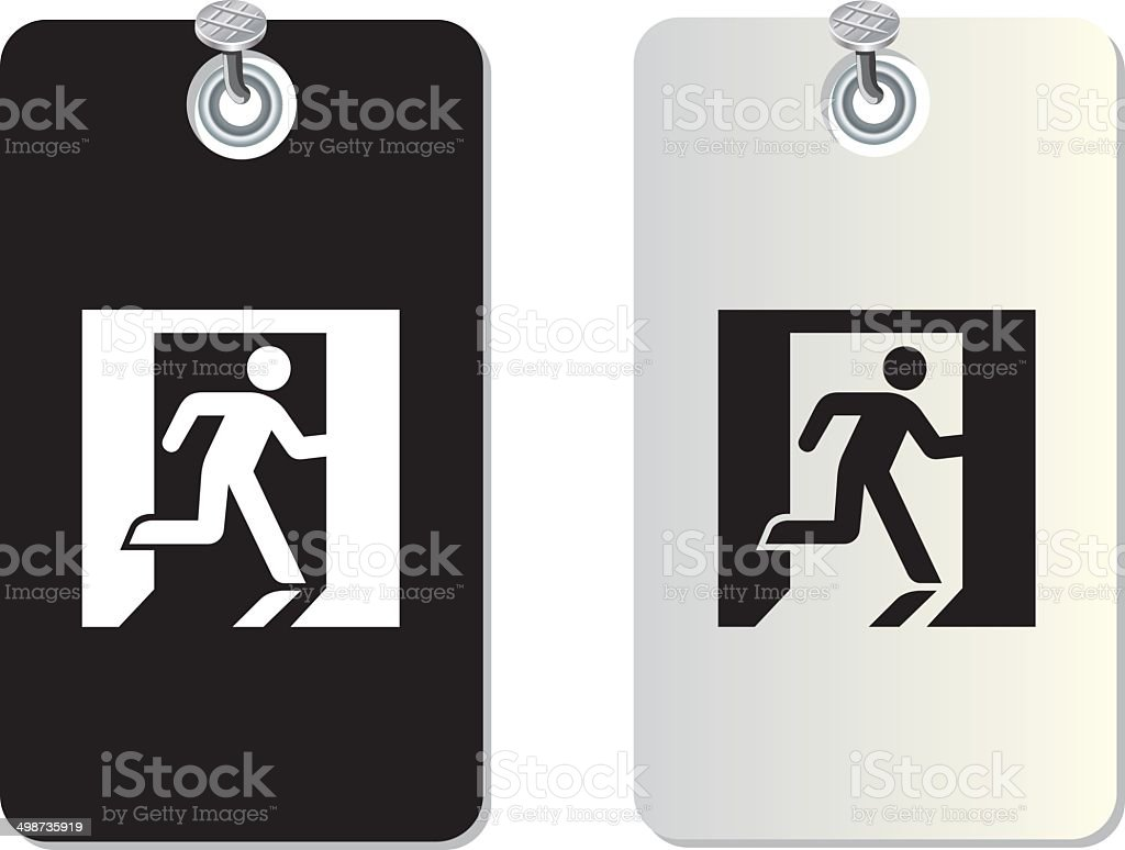 exit fire symbol vector art illustration