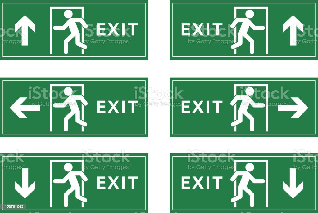 Exit sign royalty-free stock vector art