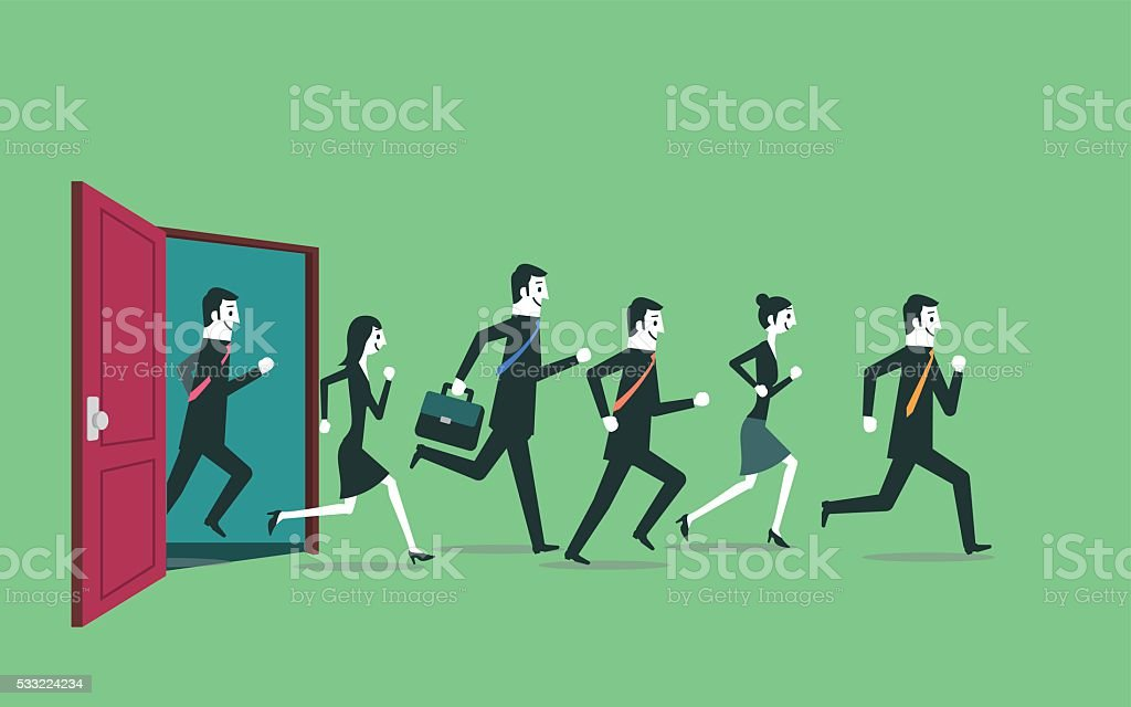 Exit vector art illustration