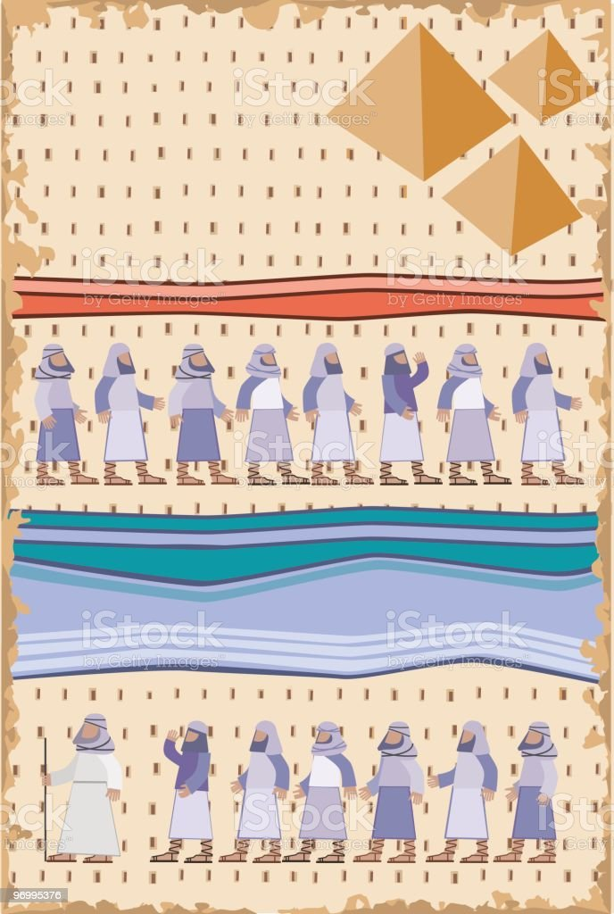 Exodus, Passover Illustration royalty-free stock vector art
