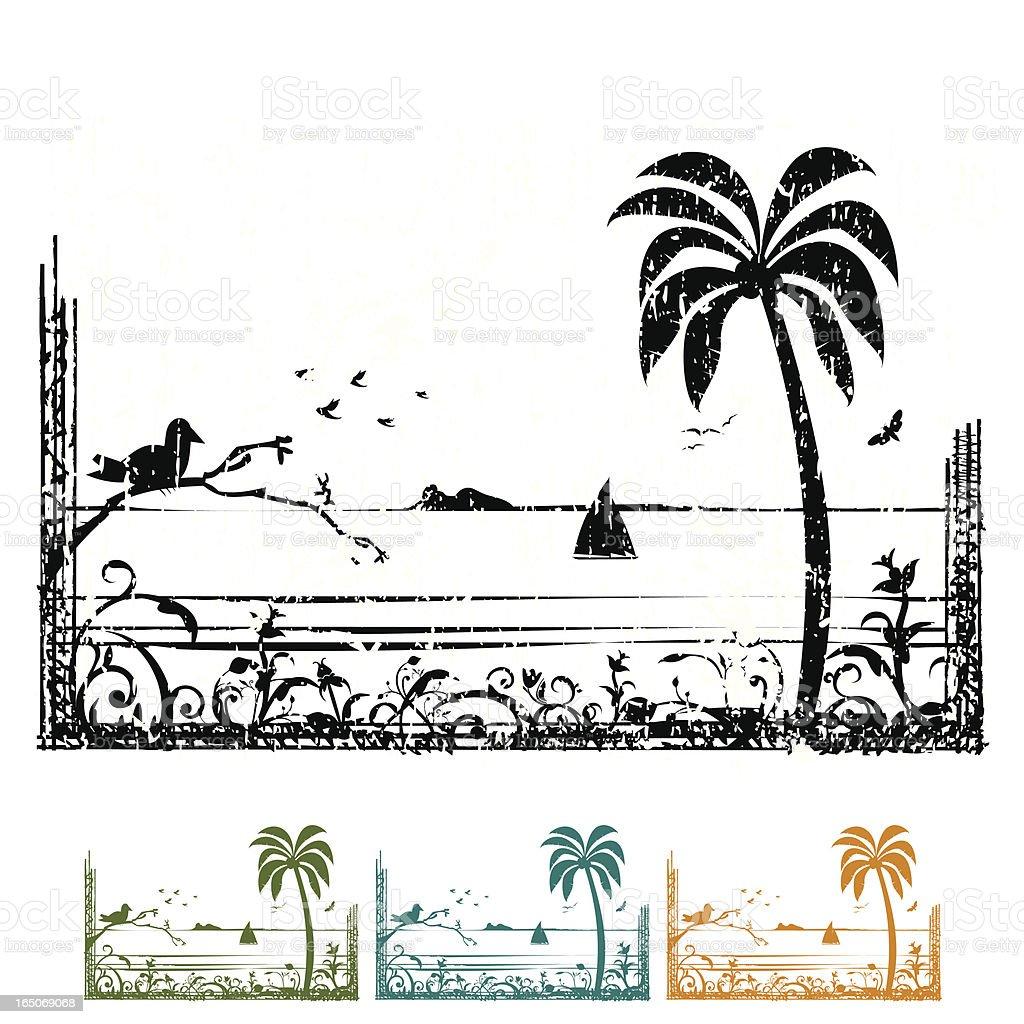 Exotic Island royalty-free stock vector art