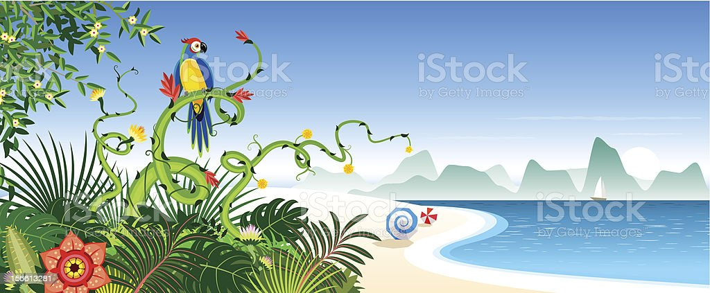 Exotic nature vector art illustration