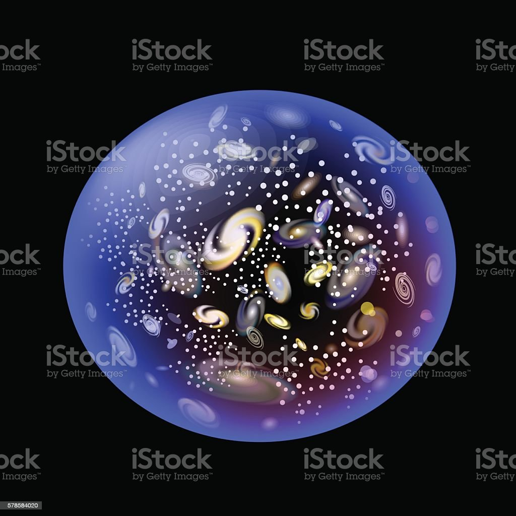 Expansion of the Universe vector art illustration