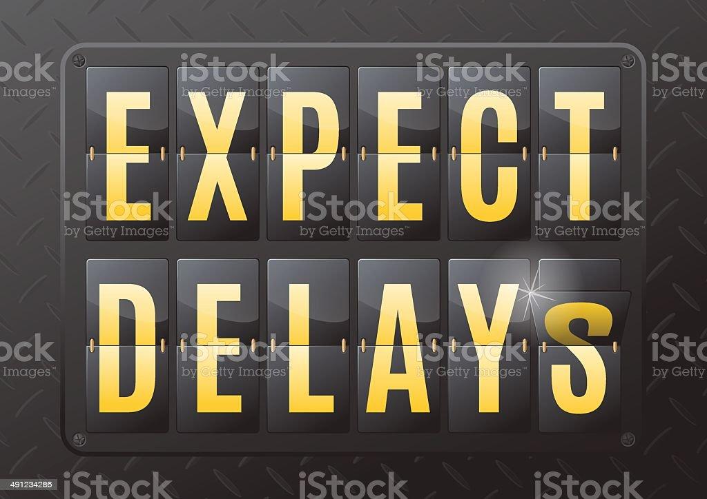 Expect delays Steel Flip Calendar. vector art illustration