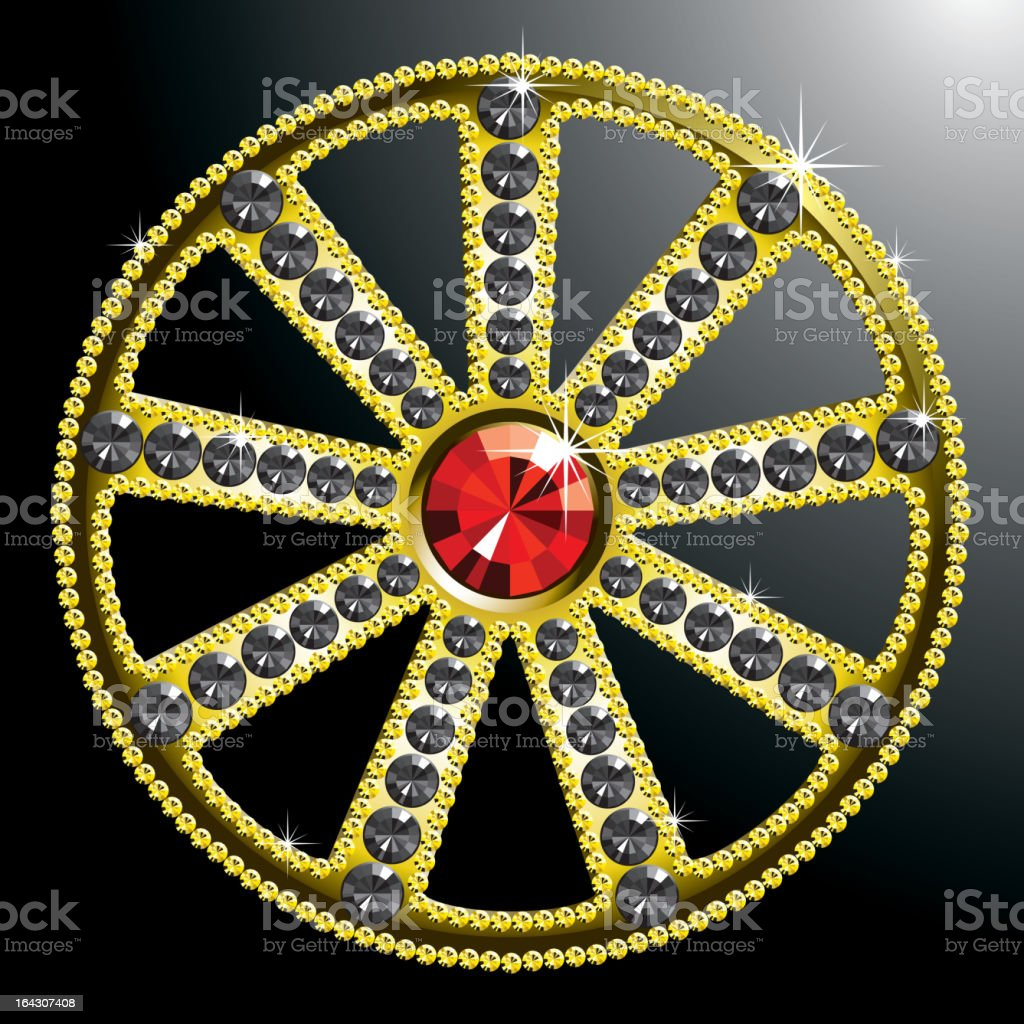 expensive gold diamond wheel royalty-free stock vector art