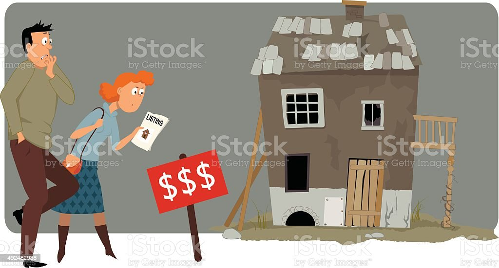 Expensive housing vector art illustration