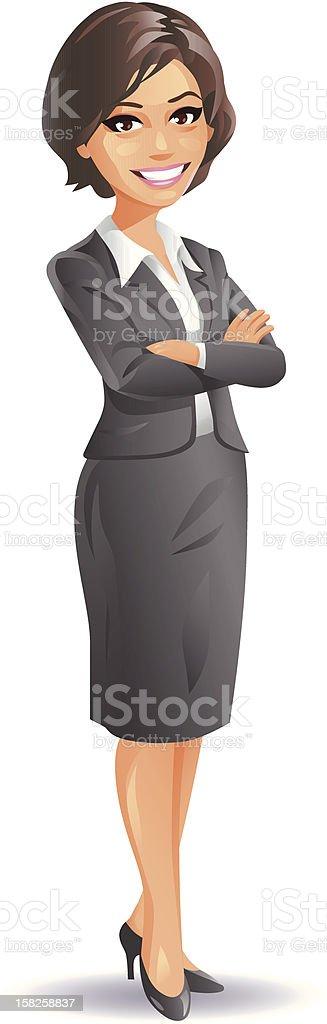 Experienced Businesswoman vector art illustration