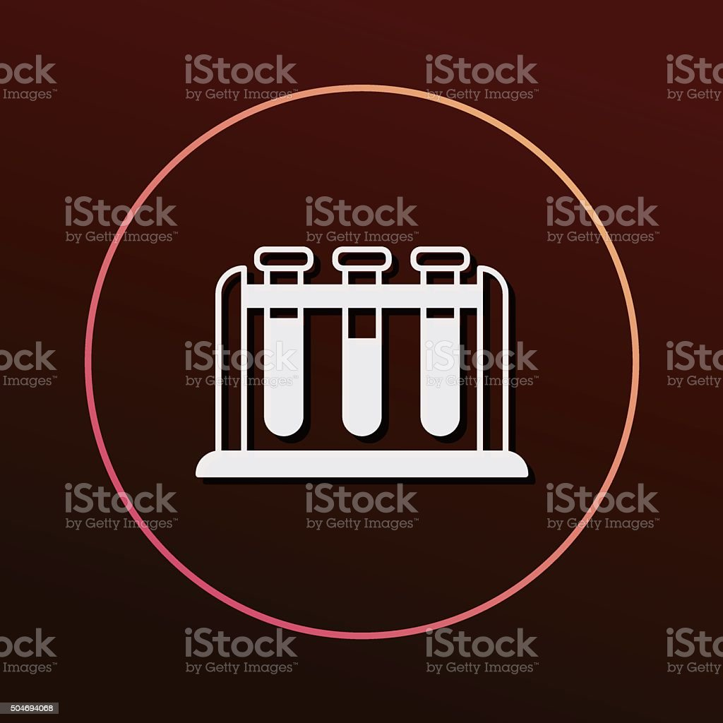 Experimental drugs icon vector art illustration