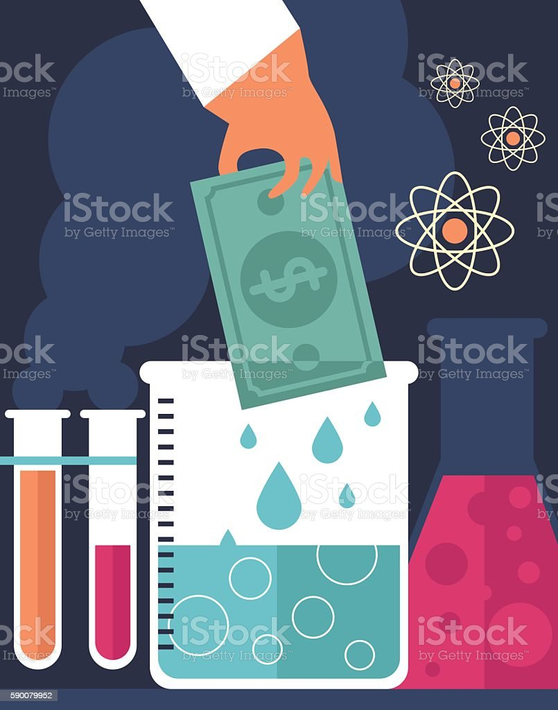 Experimenting with Money vector art illustration