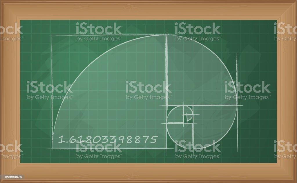 Explaining Golden Ratio royalty-free stock vector art