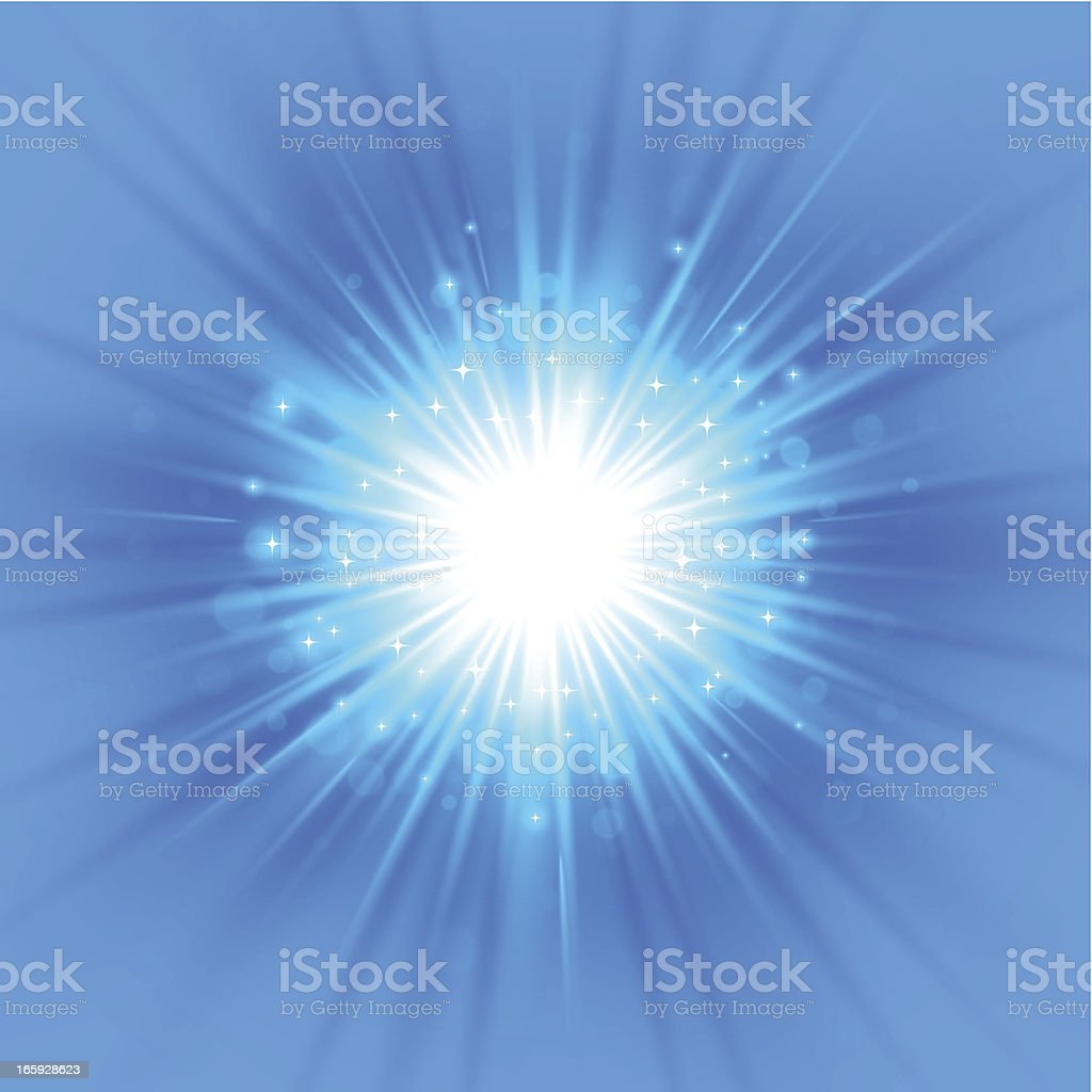 Exploding blue background royalty-free stock vector art