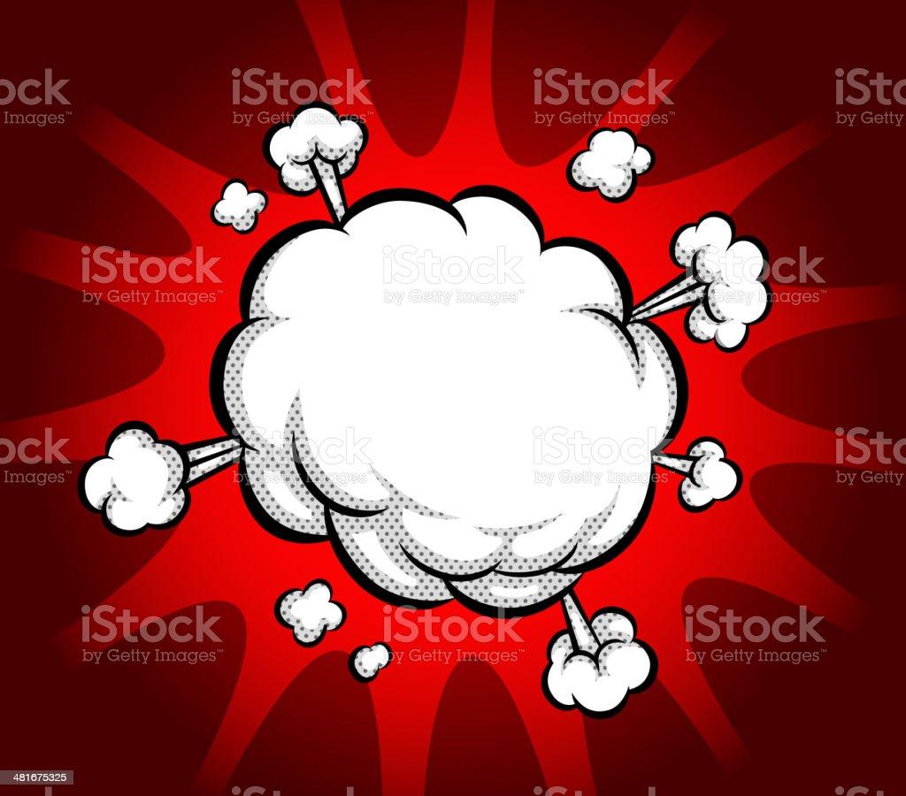 exploding bubble vector art illustration