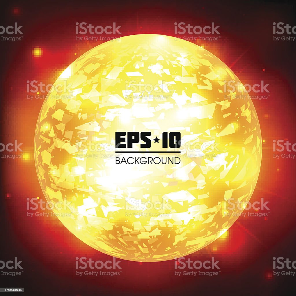 Exploding Planet. royalty-free stock vector art